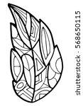 zenart zentagle leaves vector   Shutterstock .eps vector #568650115