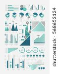 infographic set blue  vector... | Shutterstock .eps vector #568653124
