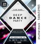 disco party poster template.... | Shutterstock .eps vector #568653985