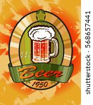 vector illustration of a beer... | Shutterstock .eps vector #568657441