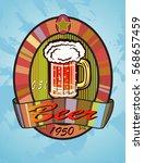 vector illustration of a beer... | Shutterstock .eps vector #568657459