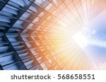 abstract view of a skyscraper... | Shutterstock . vector #568658551