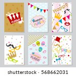 template jewish holiday purim... | Shutterstock .eps vector #568662031