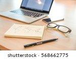 spiral notebook with world... | Shutterstock . vector #568662775