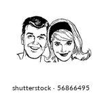 retro people   clip art | Shutterstock .eps vector #56866495