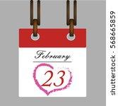 calendar february 23 vector  a... | Shutterstock .eps vector #568665859