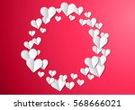valentines day card with... | Shutterstock .eps vector #568666021