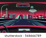 las vegas skyline   Shutterstock .eps vector #568666789