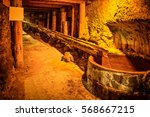underground tunnel  corridor in ... | Shutterstock . vector #568667215