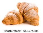 Two Croissant Sprinkled With...