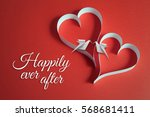 valentines day background with... | Shutterstock . vector #568681411