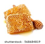 honeycomb close up on white...   Shutterstock . vector #568684819