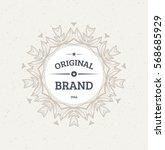 vintage frame for luxury logos  ... | Shutterstock .eps vector #568685929