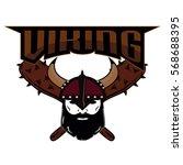 emblem viking warrior skull logo   Shutterstock .eps vector #568688395
