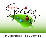 spring positive postcard for... | Shutterstock .eps vector #568689451