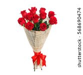 Stock photo flower bouquet of red roses 568690474