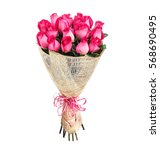 Stock photo flower bouquet of pink roses 568690495