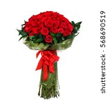 Flower Bouquet Of Red Roses