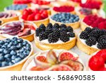 Fruit and berry tarts dessert...