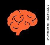 brain icon flat. | Shutterstock .eps vector #568692379
