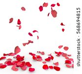 Stock photo rose petals fall to the floor isolated background 568694815