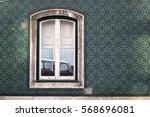 window on the ceramics tiled... | Shutterstock . vector #568696081