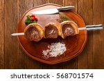 picanha  traditional brazilian... | Shutterstock . vector #568701574