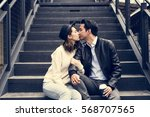 couple dating happiness... | Shutterstock . vector #568707565