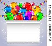 smart festive banner with... | Shutterstock .eps vector #568708411