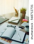 business document in office... | Shutterstock . vector #568712731