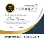 vector certificate template | Shutterstock .eps vector #568712875