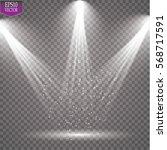 vector spotlights. scene. light ... | Shutterstock .eps vector #568717591