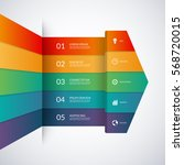 infographic template in the... | Shutterstock .eps vector #568720015