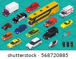 car icons. flat 3d isometric... | Shutterstock .eps vector #568720885