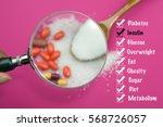 diabetes illness symptom and... | Shutterstock . vector #568726057