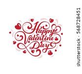 happy valentines day text... | Shutterstock .eps vector #568728451