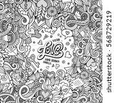cartoon cute doodles hand drawn ... | Shutterstock .eps vector #568729219