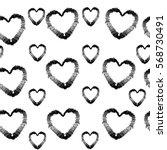 abstract seamless heart pattern.... | Shutterstock .eps vector #568730491