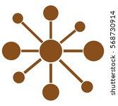 vector illustration of brown... | Shutterstock .eps vector #568730914
