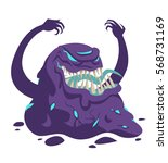 evil fearful black goo monster | Shutterstock .eps vector #568731169