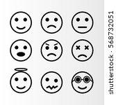 emojis internet editable vector | Shutterstock .eps vector #568732051