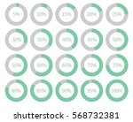 illustration infographic round... | Shutterstock .eps vector #568732381