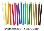 crayons   colored pencil set... | Shutterstock .eps vector #568739584