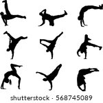 collection silhouette break...   Shutterstock .eps vector #568745089
