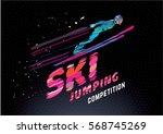 sport emblem on the topic ski... | Shutterstock .eps vector #568745269