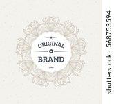 vintage frame for luxury logos  ... | Shutterstock .eps vector #568753594