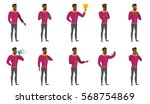 confused business man shrugging ... | Shutterstock .eps vector #568754869