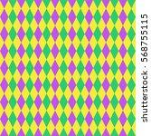 mardi gras seamless pattern.... | Shutterstock .eps vector #568755115