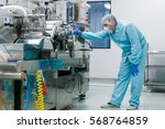 bended scientist works with... | Shutterstock . vector #568764859