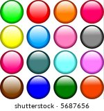 color buttons | Shutterstock .eps vector #5687656
